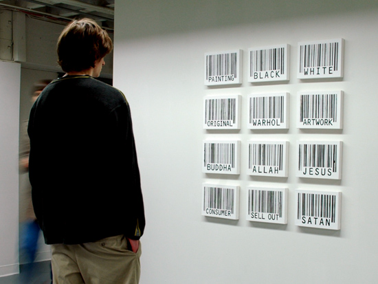 Barcode Word Paintings
