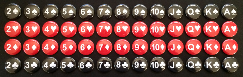 Playing Card Buttons