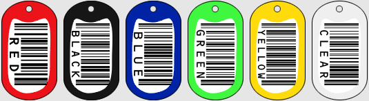 Barcode Dog Tag Silencer Colors