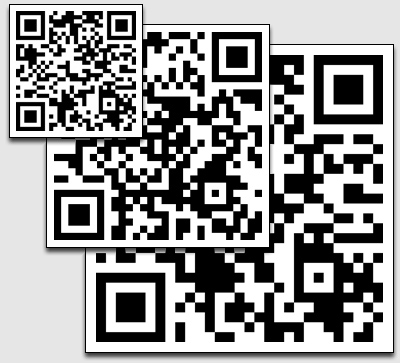 Custom QR Code Tattoos, Small, Medium, and Large Sizes