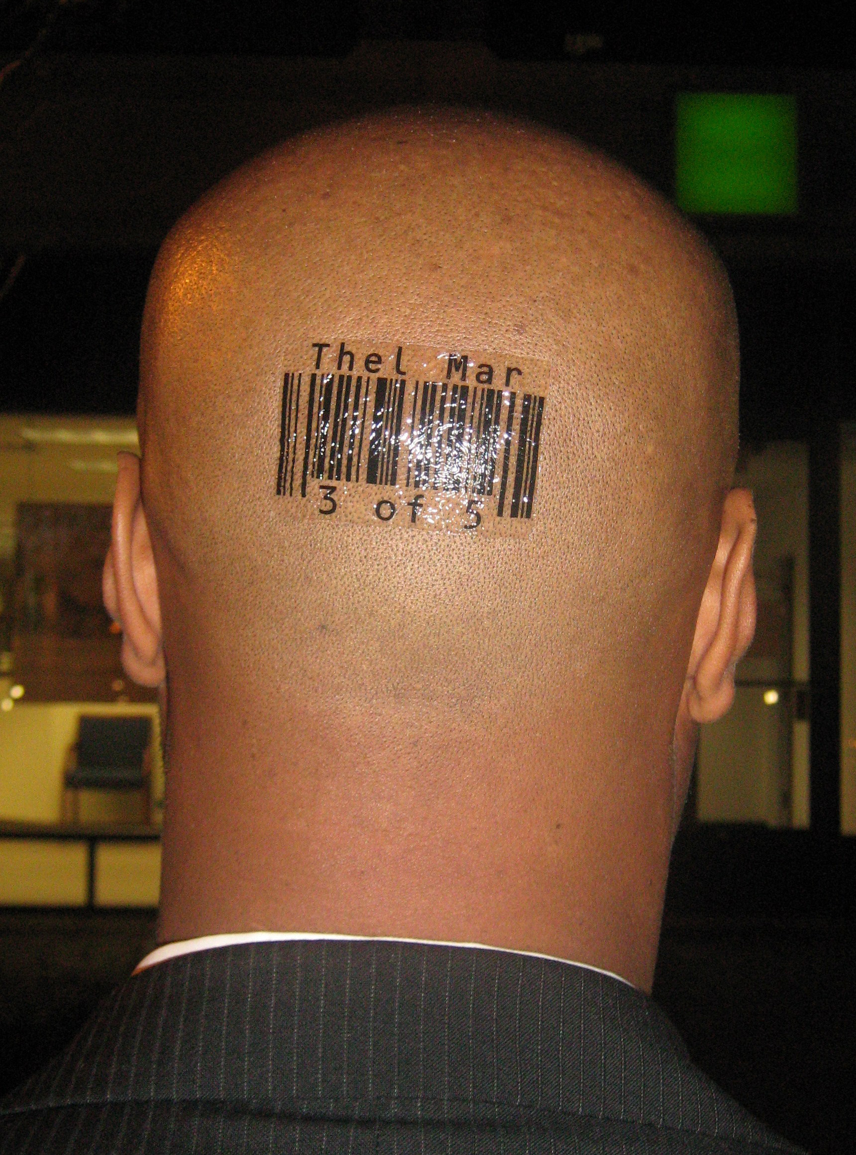 Custom Barcode Tattoos by