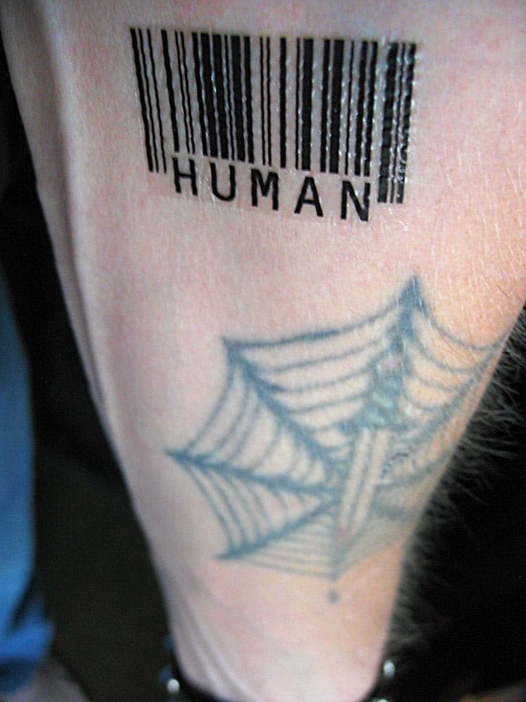 Slave Barcode Tattoo