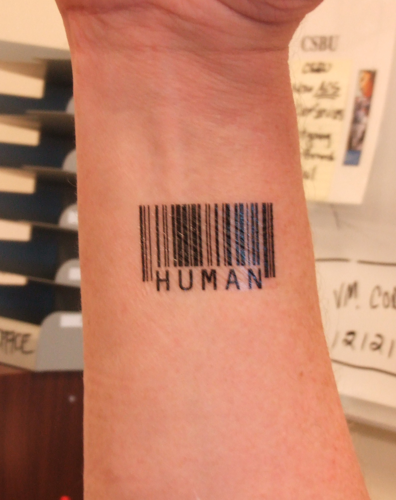 Niall Horan Barcode Tattoo