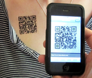 Custom QR Code Tattoos