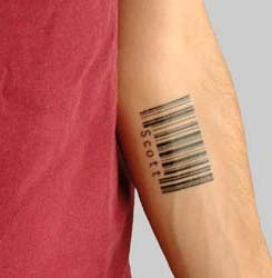 Custom Barcode Tattoos