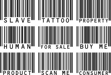 Barcode Word Tattoos